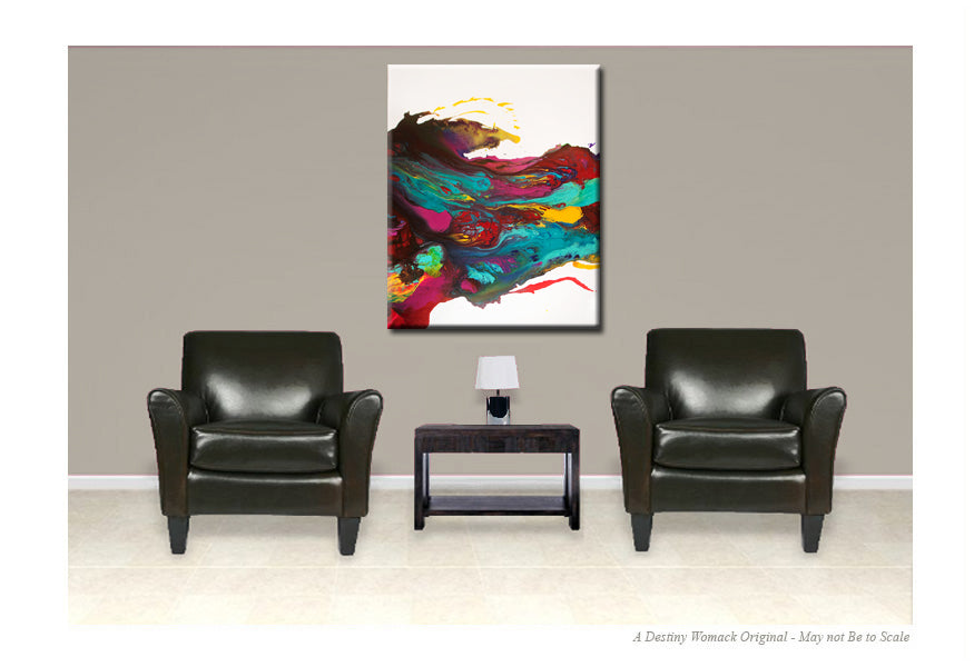 30x40 abstract canvas art contemporary painting by destiny womack dw