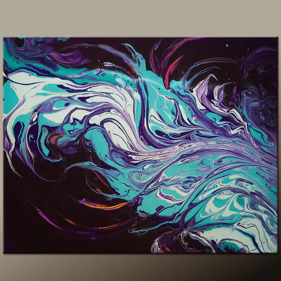 Abstract Canvas Art Contemporary Painting by Destiny Womack - dWo -  Song of the Soul