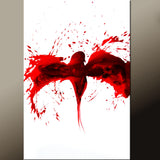 Contemporary Red Bird Canvas Art Painting by Destiny Womack