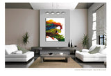 30x40 Abstract Canvas Art Contemporary Painting by Destiny Womack - dWo - The Wave