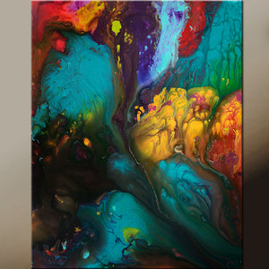 Abstract Canvas Art Painting 24x30 Contemporary Original by Destiny Womack - dWo - To Heaven