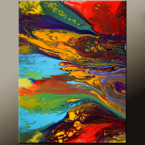 Abstract Print 11x14 Contemporary Wall Art by Destiny Womack - dWo - To Wonderland