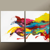 60x40 2pc Abstract Canvas Art Contemporary Painting by Destiny Womack - dWo - Waves of Euphoria