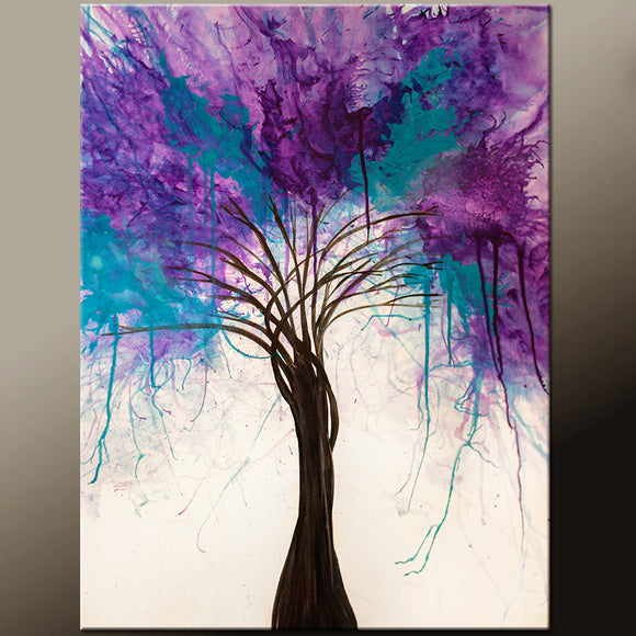 Abstract Canvas Art Painting 22x28 Contemporary Original by Destiny Womack - dWo - When Trees Dream