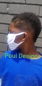 20 Kid Sublimation Face Covers- ALL WHITE