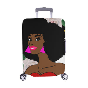 "Black Queen Luggage Cover Medium 22""-25"", Travel Bag COVER"