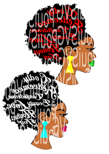 words in hair svg,afro hairstyle,godly women, tshirt design,
