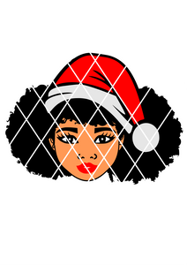 Afro Hair svg,Afro Girl ,Afro Puffs,Christmas svg,Santa svg