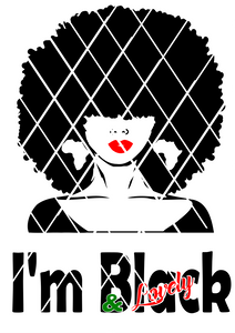 Black Woman svg,Black and Lovely svg ,dxf,png file