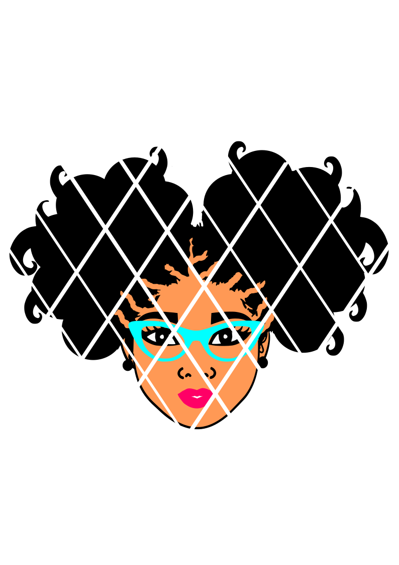 Afro Puffs SVG,Afro girl puffs,Elsa file,Silhouette cut file,African American