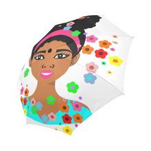 Pony Tail Girl Perfect Umbrella Auto-Foldable Umbrella