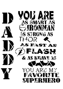 Daddy Superhero svg, Silhouette cut file, Cricut svg