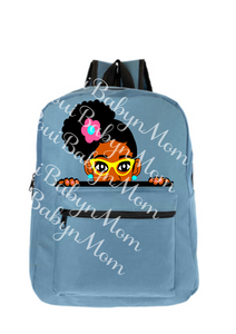 Peek a Boo Backpack Ana with glasses
