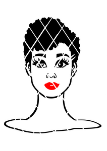 Short Afro Woman svg