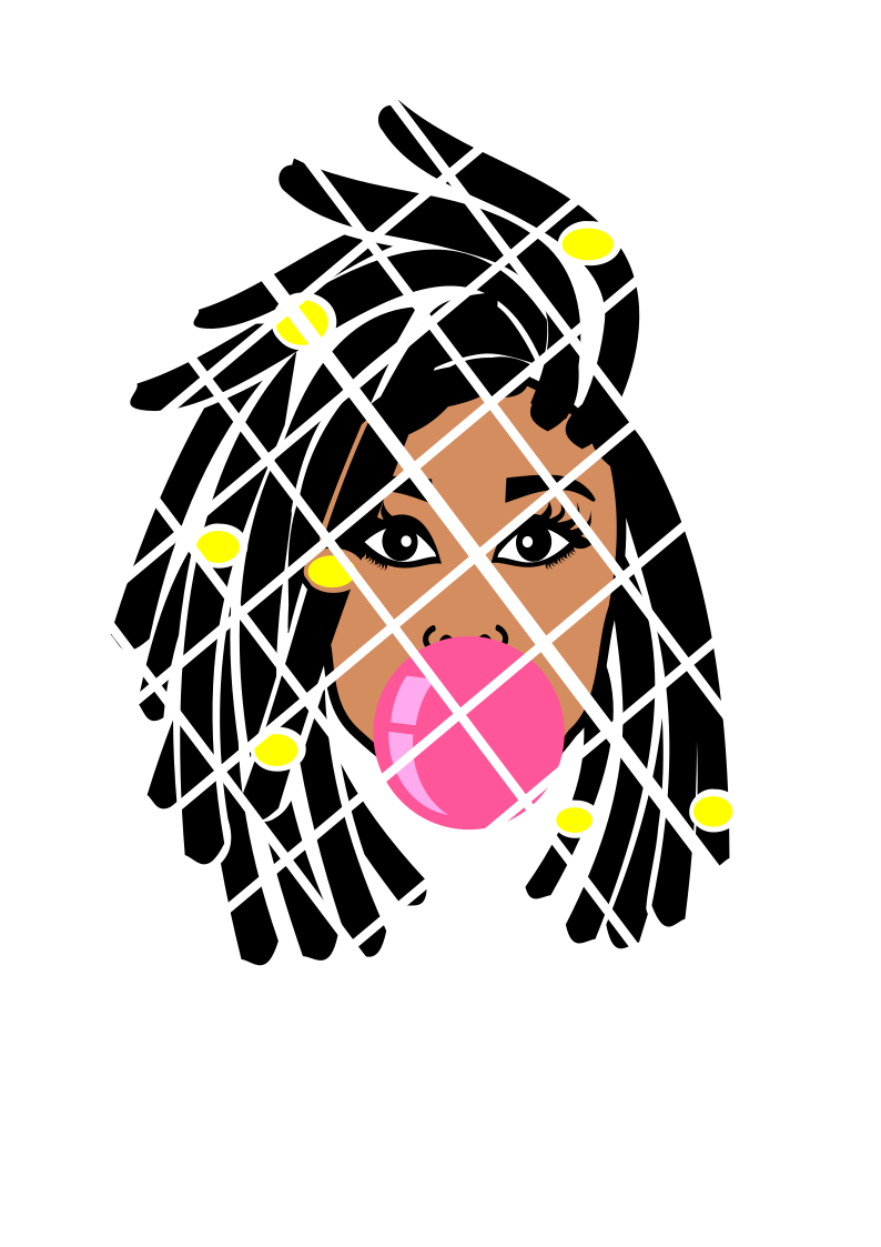 Dreadlocks Bubble svg,dxf,png, Gianina