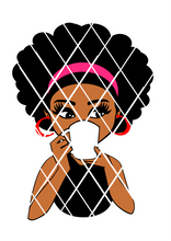 Woman drinking with mug svg,Afro puff svg,Latoya svg,Sistah svg,