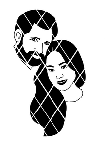 Prince Harry and Princess  Meghan  SVG,DXF ,PNG files,