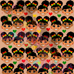 Black History Month Afro Digital Paper