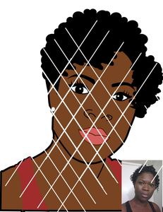 Portrait Image SVG, Face svg,png,dxf files ,Made to Order