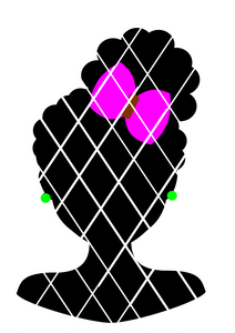 Afro Puffs Silhouettes Bundle SVG,DXF,PNG files