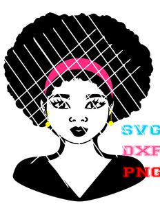 Taiana  Bust svg,Colored Png, Sistah svg,Black Girls svg,African American svg