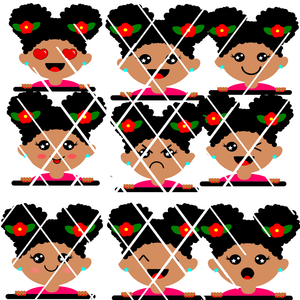 Peeking Girl Emoji PNG files