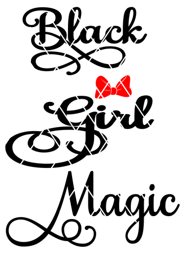 Black Girl Magic SVG, Text SVG, Samantha font text, Tshirt Design