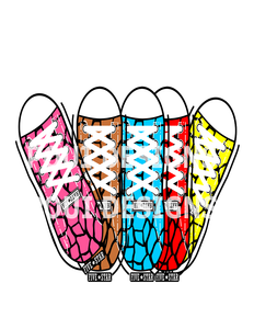 6 Giraffe Sneaker socks PNG files
