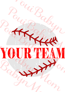 Distressed  Baseball svg, Team svg
