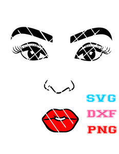 Black Woman  Face svg, PNG file,DXF file