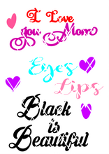 I love you mom svg,Eyes,lips,Beautiful svg