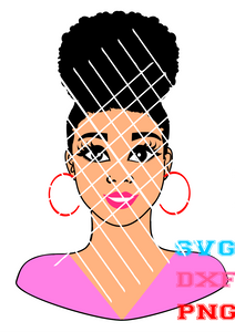 Emma afro girl svg