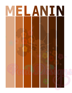 Melanin stripes