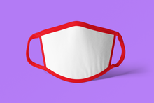 20 Adult Sublimation Face Covers Mask - Red Trim