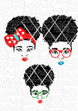 Cute Afro Puff hair Girl SVG file
