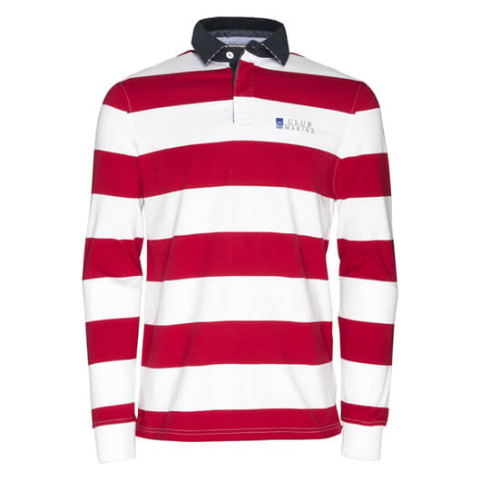 Mens Edward Rugby Top - Red