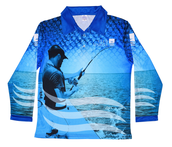 Club Marine Fishing Polo (Blue)