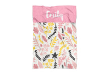 Floral Personalized Baby Blanket