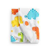 Personalized Dinosaur Baby Blanket, Blue