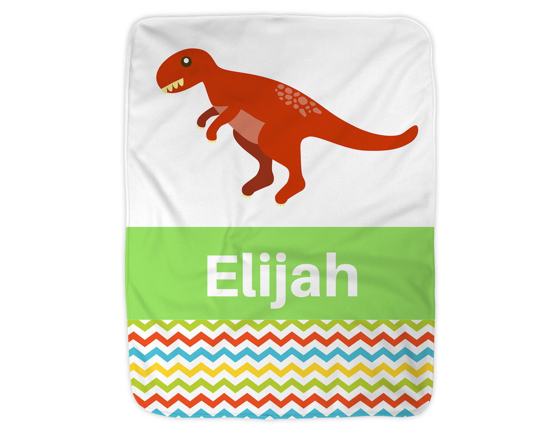 Personalized Dinosaur Blanket,  Green