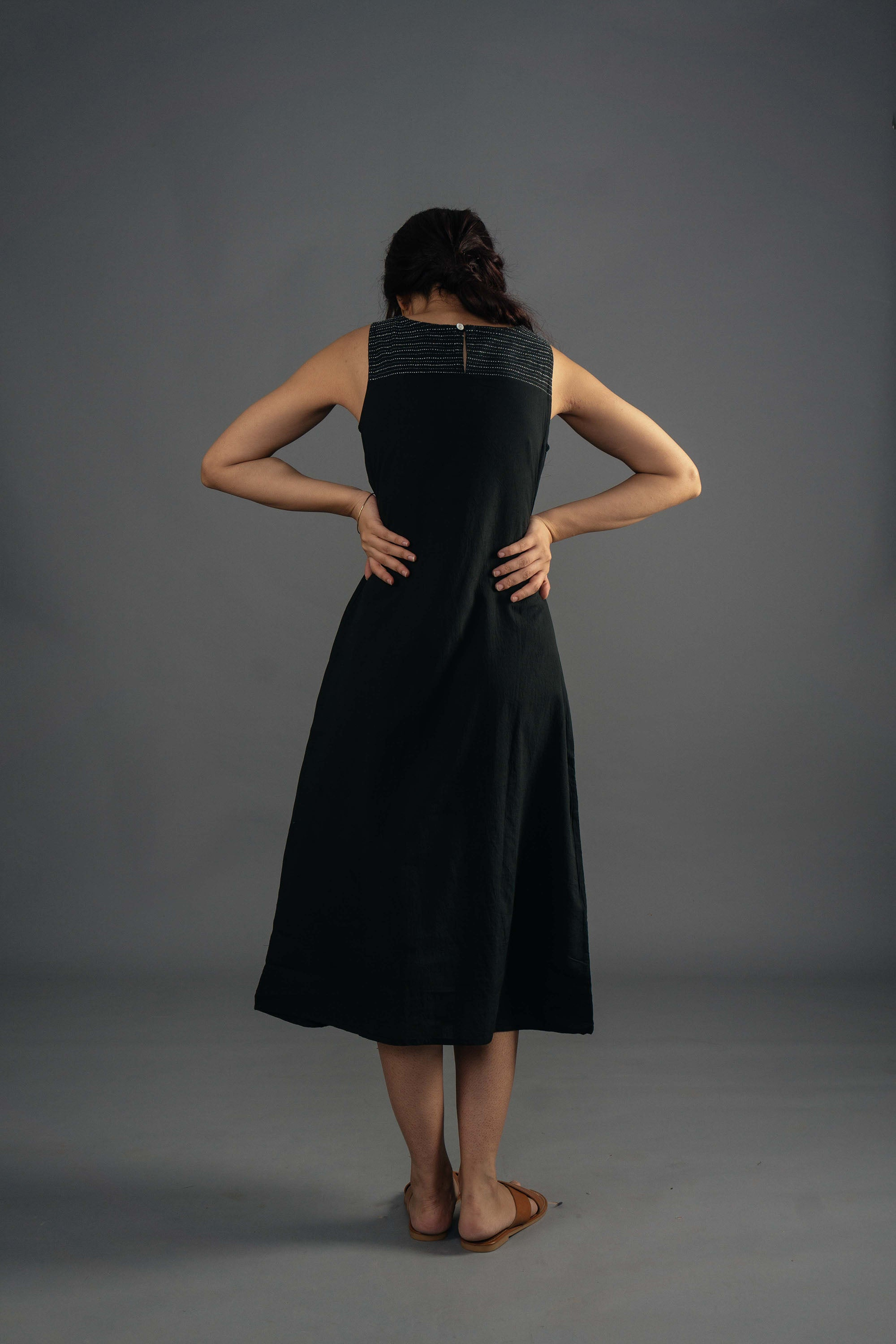 Layered Dress - Ebony