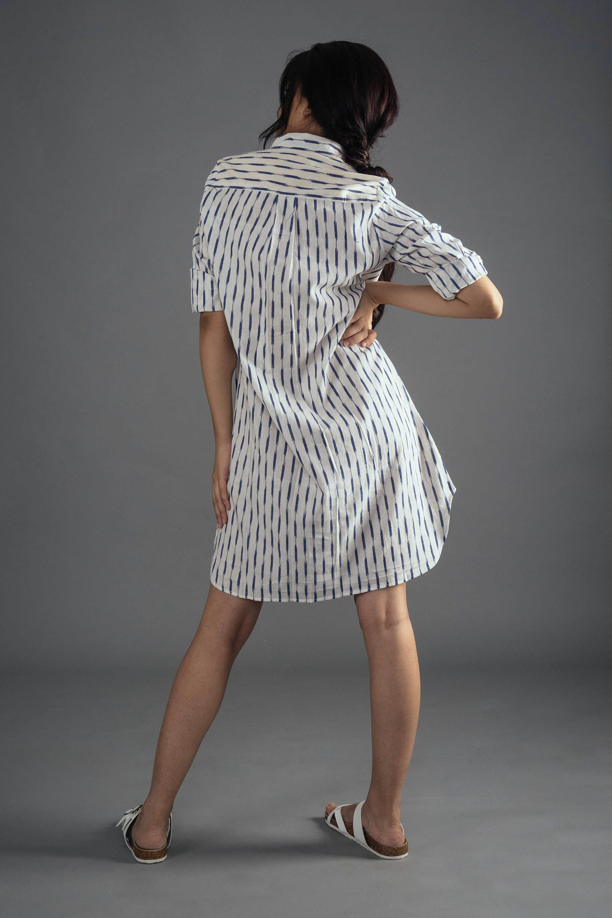 Ikat Shirt Dress