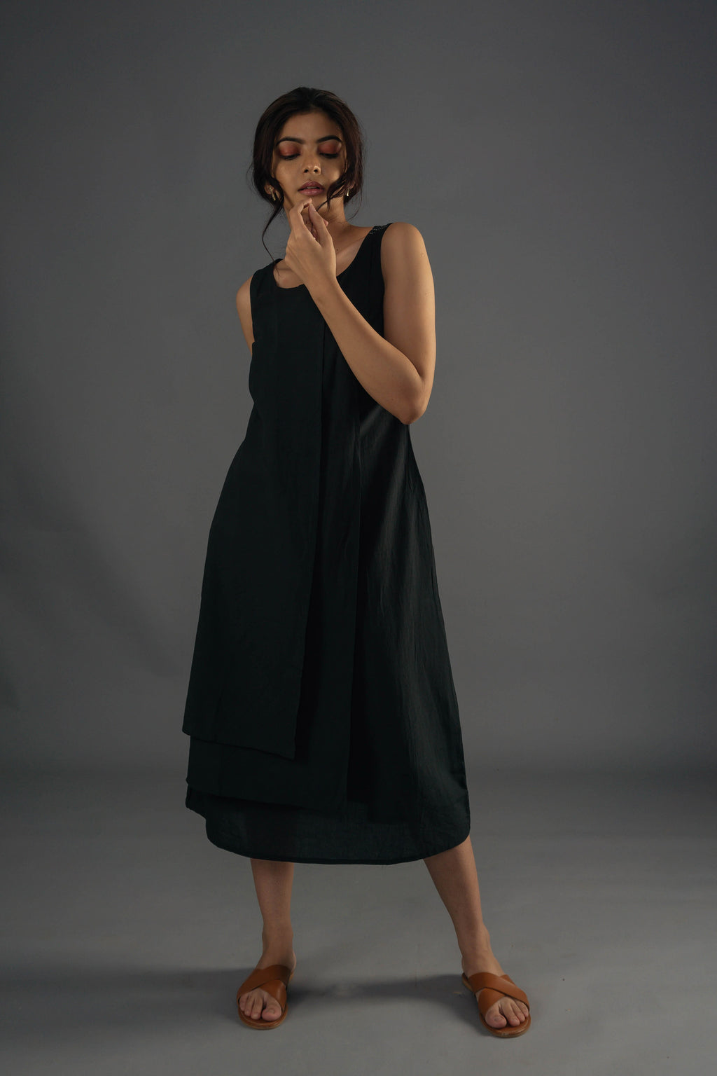 Layered Dress - Black