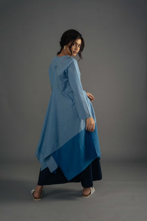 A-Symmetry Kurta - Blue