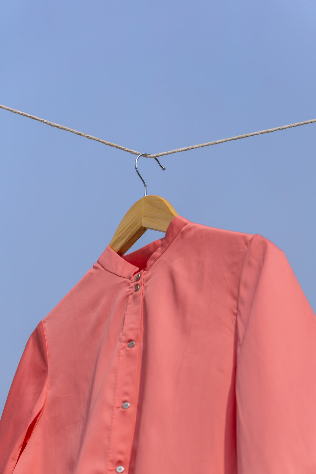 The Pleated Back Shirt - Peach