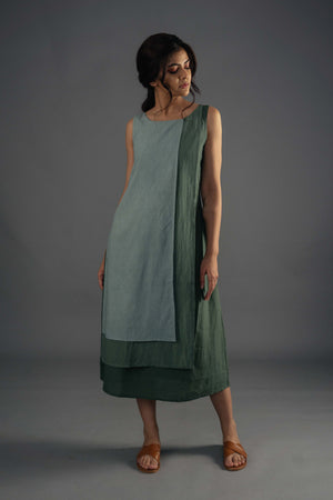 Layered Dress - Olive