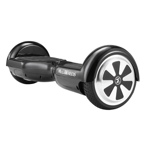 Megawheels Black Hoverboard Self Balance Scooter with LED Lights UL2272