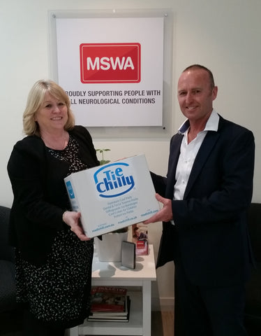 Gary Maynard From Tie Chilly and Sue Shapland of MSWA