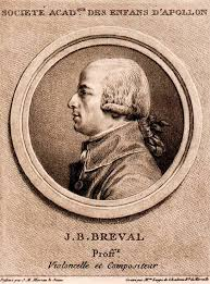 Breval J.B., Sonata in G+ for cello and piano, I mvt., MM=96q