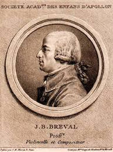 Breval J.B., Sonata in G+ for cello and piano, III mvt., MM=50dq
